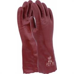 "Standard PVC Gauntlets - 14"" , Red, One Size (10)"